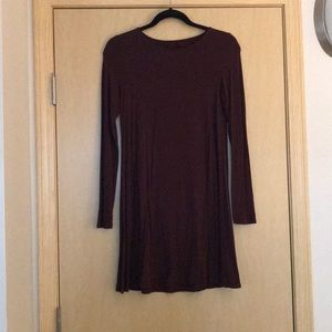 AE: Burgundy T-shirt Dress
